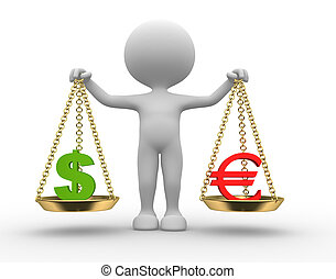 Sign dollar and euro