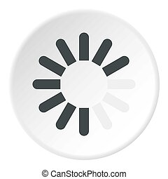 Sign download icon circle