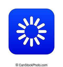 Sign download icon digital blue