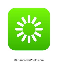 Sign download icon digital green