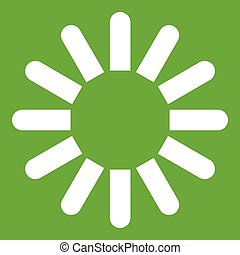 Sign download icon green
