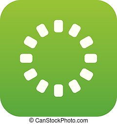 Sign download online icon digital green