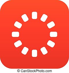 Sign download online icon digital red