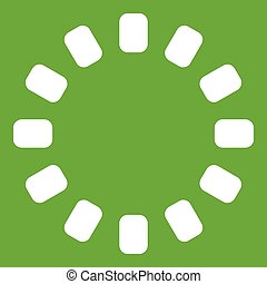 Sign download online icon green