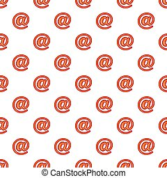 Sign e-mail pattern, cartoon style