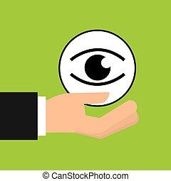 sign eye icon pin map