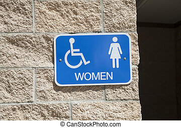 Sign for a Women's Restroom