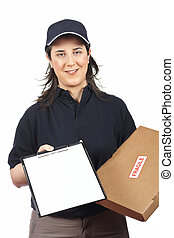 Sign for delivery