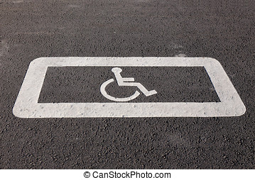 sign for the disabled