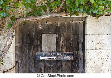 sign for wine tasting, Monbazillac, Aquitaine, France