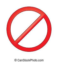 Sign forbidden circle. Prohibited red symbol isolated vector...