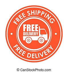 sign free shipping delivery truck icon