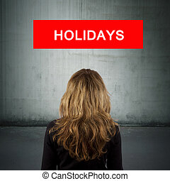 sign girl back with the holidays and destinations