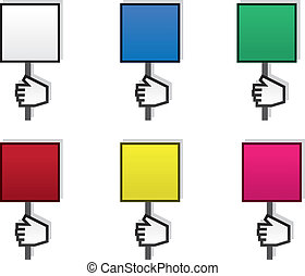 Sign Hand Blank Colors