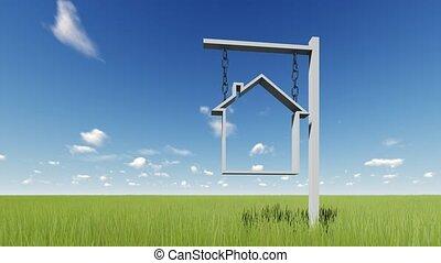 Sign House For remt or sale