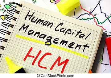 human capital management HCM - Sign human capital management...