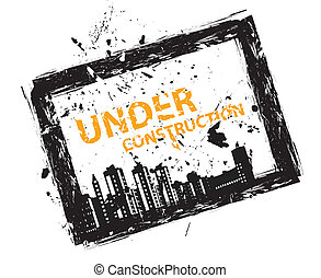 Sign illustration under construction