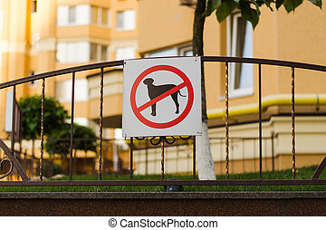 sign in a residential area