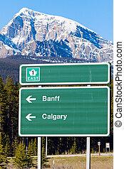 Sign in Banff National Park