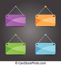 sign in four color vector illustration