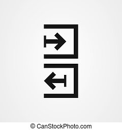 Sign in, sign out, login and logout icon