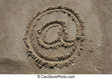 Sign in the sand
