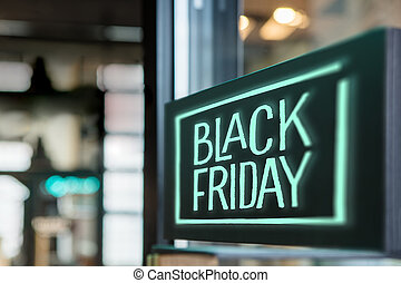 Sign in the store Black Friday