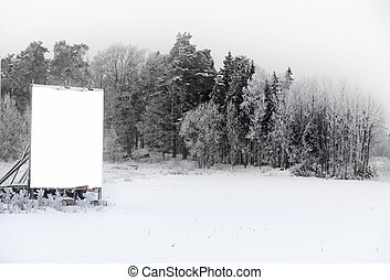 Sign in winter