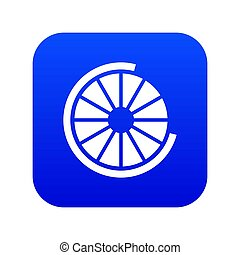 Sign incomplete download icon digital blue