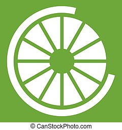 Sign incomplete download icon green
