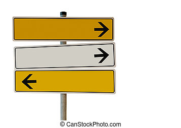 Sign - Isolated blank sign with space for text.