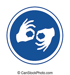 Sign language symbol illustration