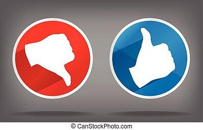 sign like and dislike