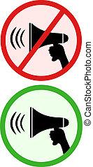 Sign megaphone