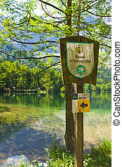sign nature reserve, austria - sign nature reserve, ...