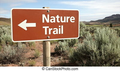 Nature Trail - Sign, Nature Trail, in the Painted Hills,...
