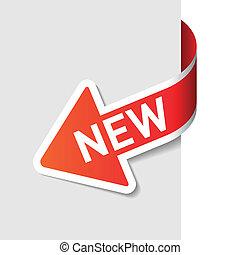 Sign New on the arrow