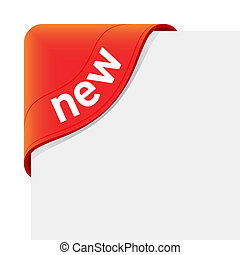 Vector illustration of a red sign New