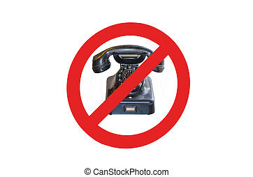 Sign - no cell phones - Telephoning prohibited