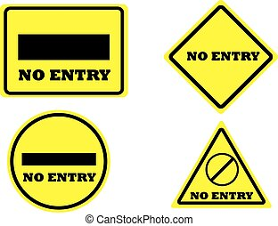 sign no entry isolated