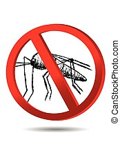 sign, No Mosquito