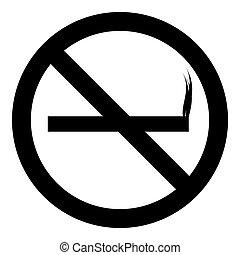 Sign no smoking icon, simple style