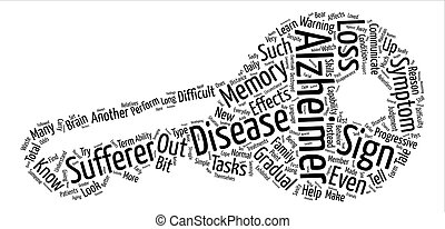 sign of alzheimers text background word cloud concept
