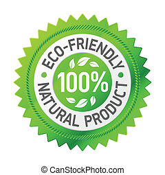 Sign of an eco-friendly product - Vector illustration of a...