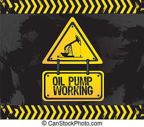 sign of an oil pump, vector illustration