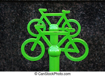 Sign of bicycle parking.
