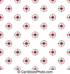 Sign of compass pattern, cartoon style