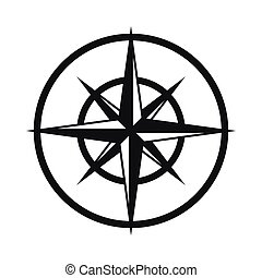 Sign of compass to determine cardinal directions icon in...