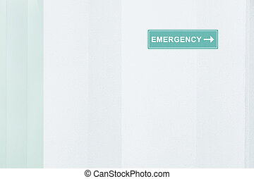 Sign of Emergency room