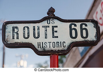 Sign of Historic Route 66